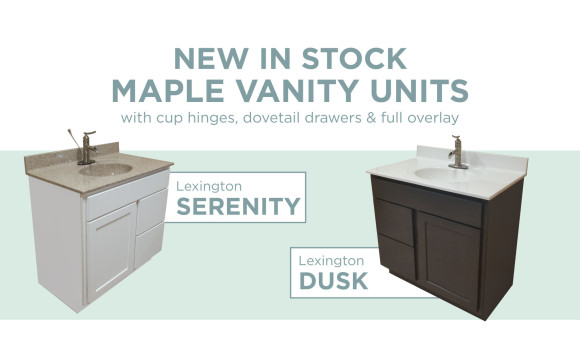 NEW Maple Vanities Ready to Ship