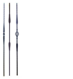 Taos iron balusters
