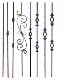 Tuscan iron balusters