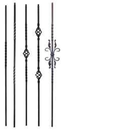 Twist & Basket iron balusters