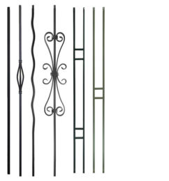 Plain & Zigzag iron balusters
