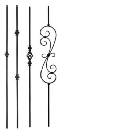 Knuckle iron balusters