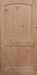 2 panel arch plank flat