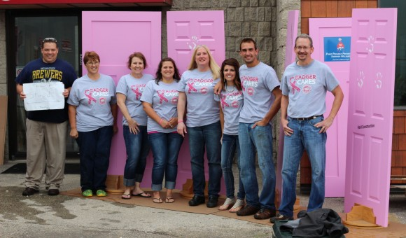 Team Badger Supports Steppin' Out in Pink