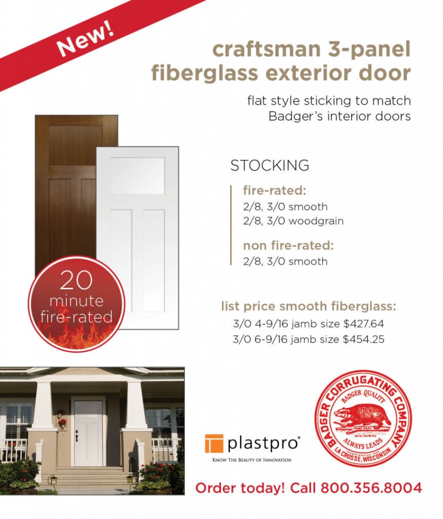New Fiberglass Fire Rated Exterior Doors Badger Corrugating Company