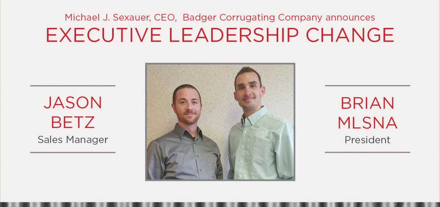 Executive Leadership Change