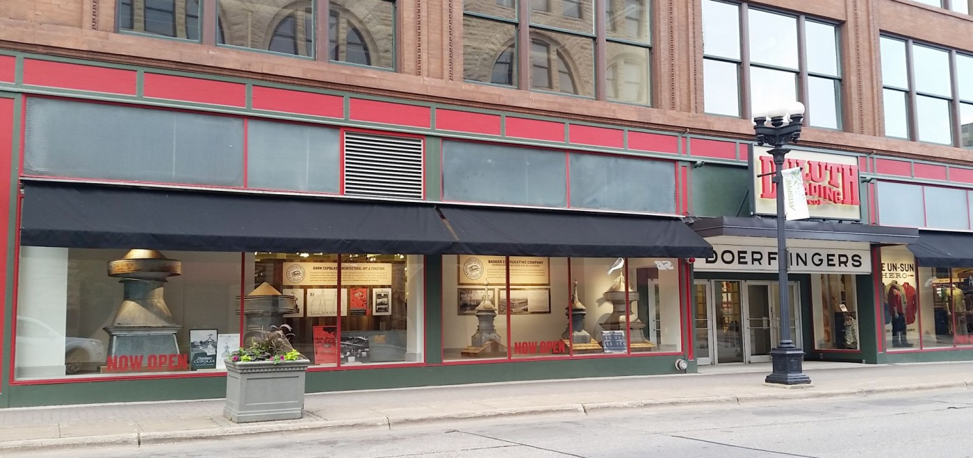 Duluth Trading Company displaying Badger Corrugating historical memorabilia