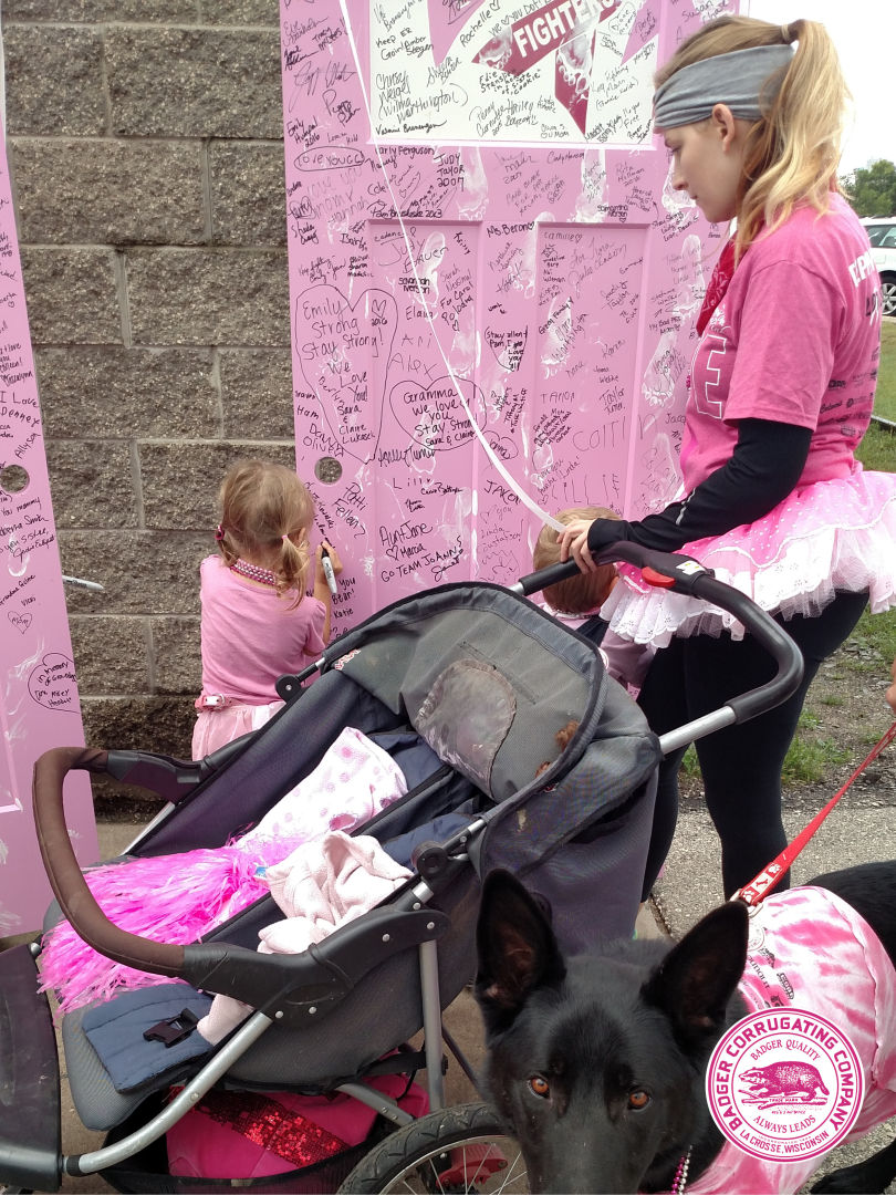 Badger Corrugating Supports Steppin Out In Pink