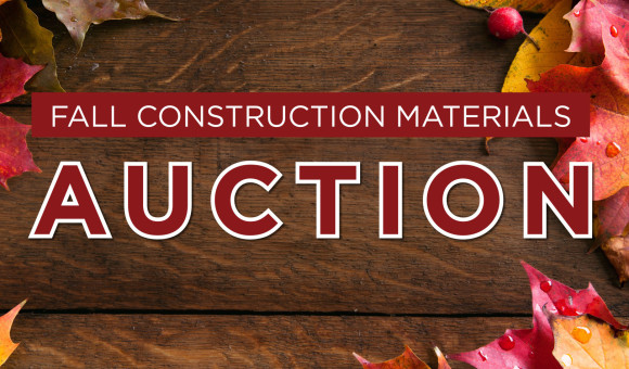 Fall Construction Materials Auction September 24th