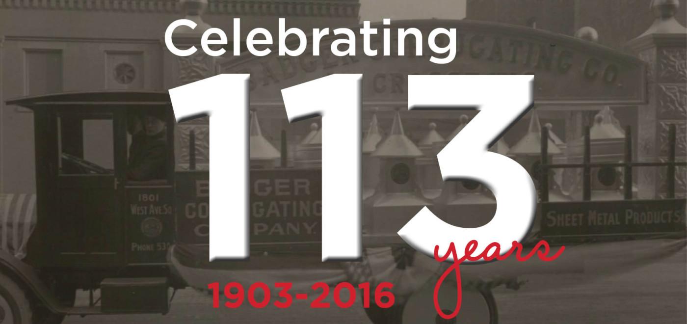 Celebrating 113 Years
