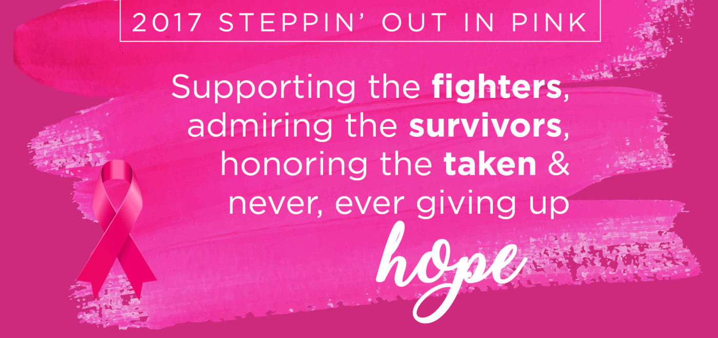 $4,500 raised for for Steppin' Out in Pink