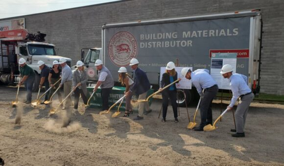 BREAKING GROUND TO EXPAND MILLWORK OPERATIONS